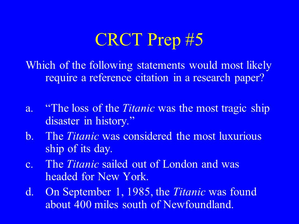 CRCT Prep #26 What revision could be made to the sentence below.