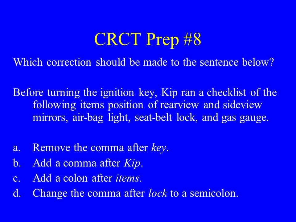 CRCT Prep #29 Which word is the predicate adjective in the following sentence.