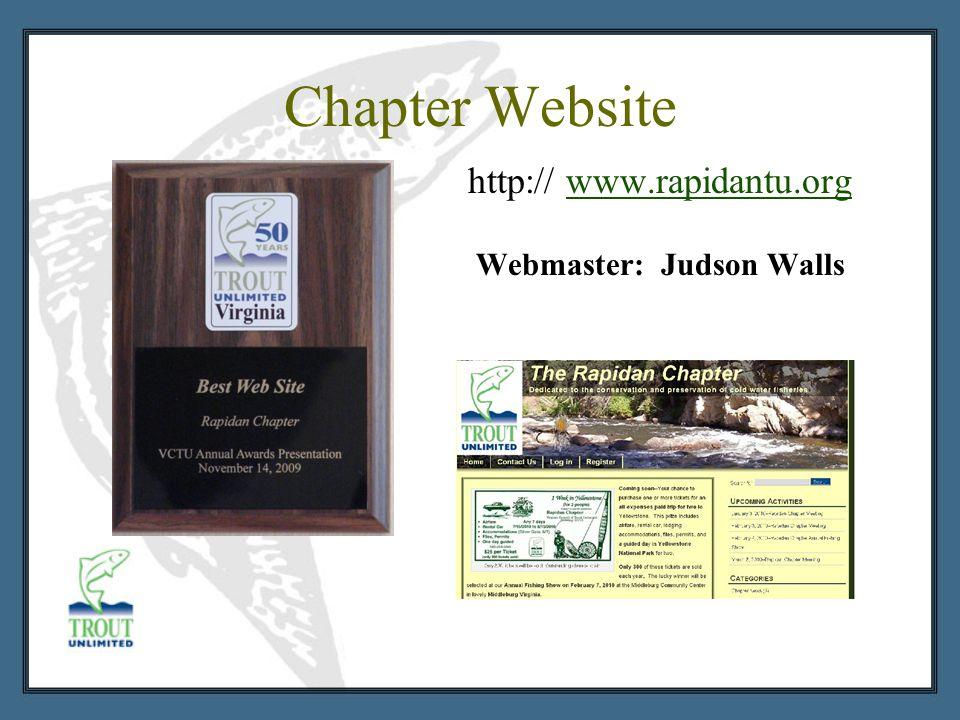 Chapter Website http:// www.rapidantu.orgwww.rapidantu.org Webmaster: Judson Walls