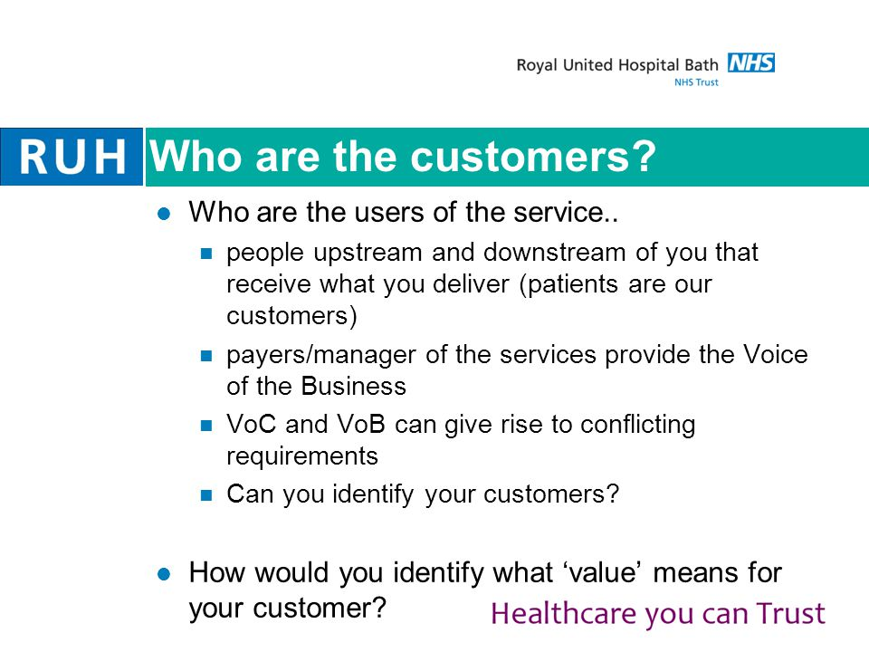 Who are the customers.Who are the users of the service..