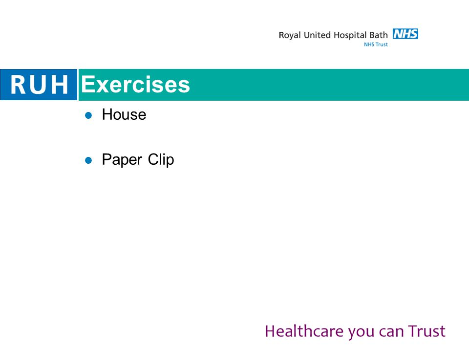 Exercises House Paper Clip