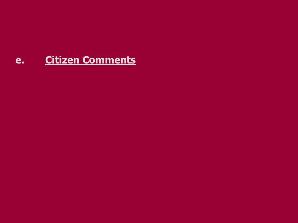 e.Citizen Comments