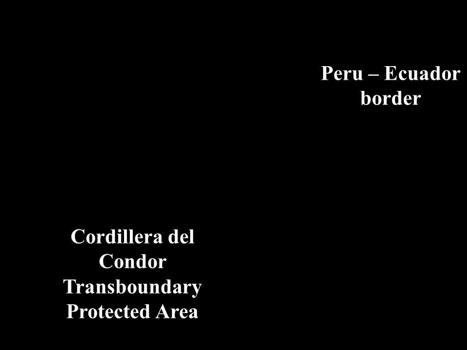 Peru – Ecuador border Cordillera del Condor Transboundary Protected Area