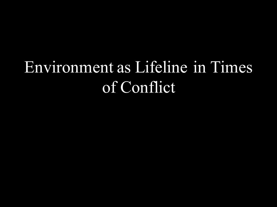 Environment as Lifeline in Times of Conflict