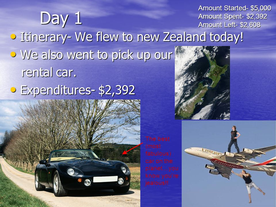 Day 1 Itinerary- We flew to new Zealand today.Itinerary- We flew to new Zealand today.