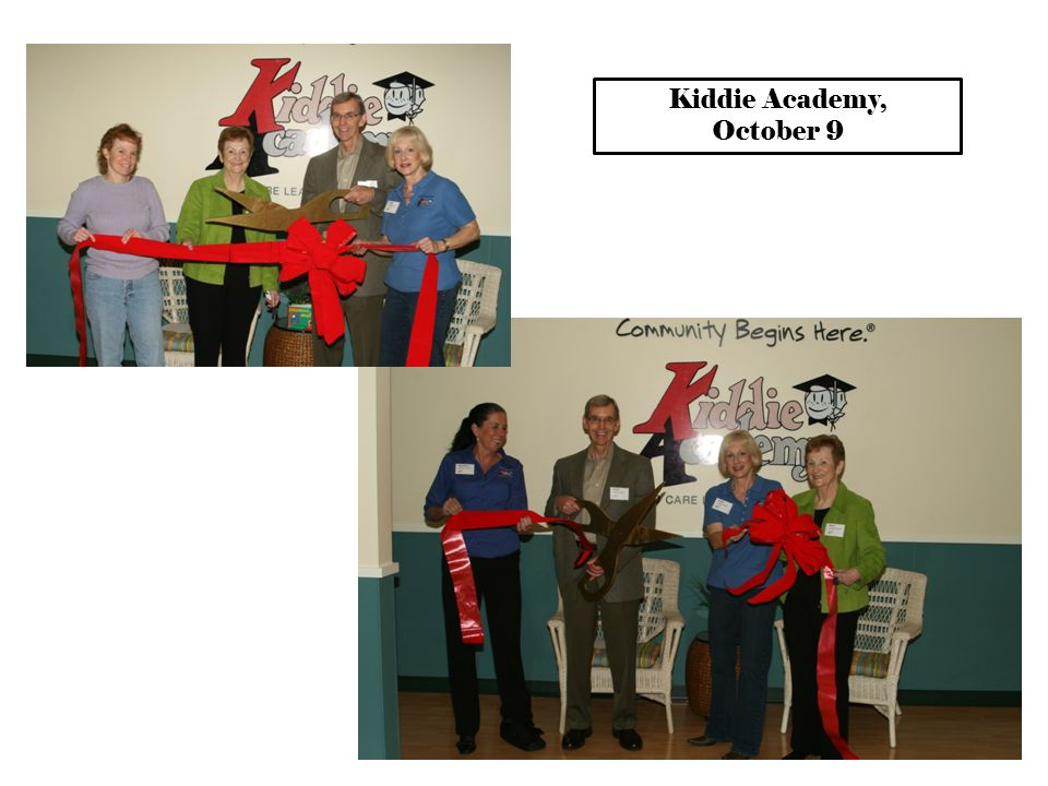 Kiddie Academy, October 9