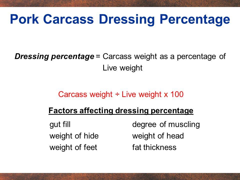 Livestock are processed different ways.Ex.