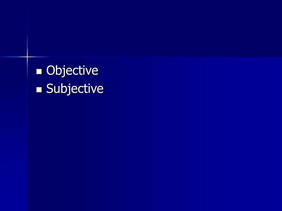 Objective Objective Subjective Subjective