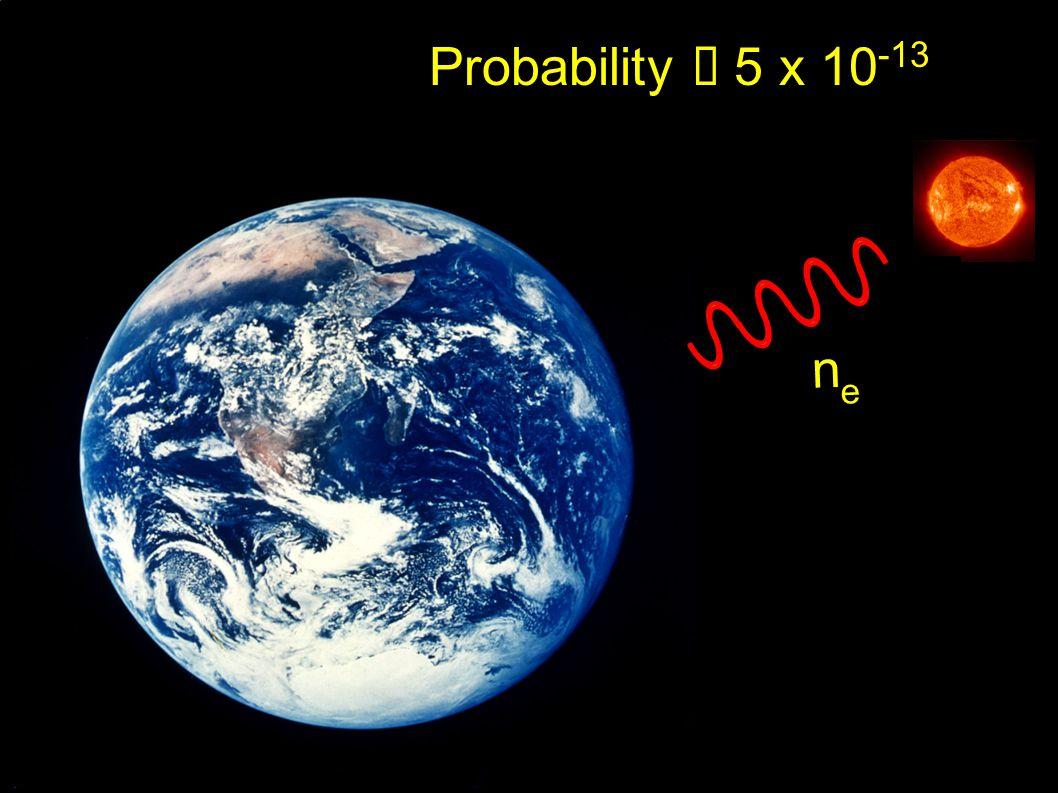 Probability 5 x 10 -13 nene