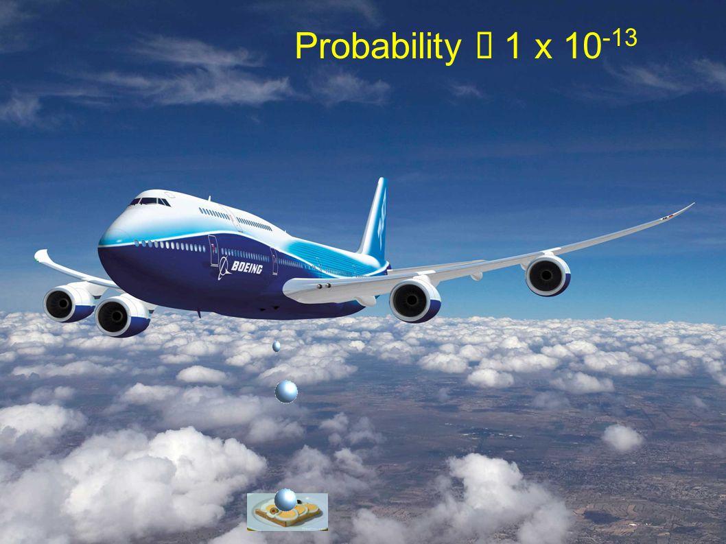Probability 1 x 10 -13