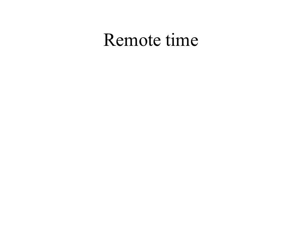 Remote time