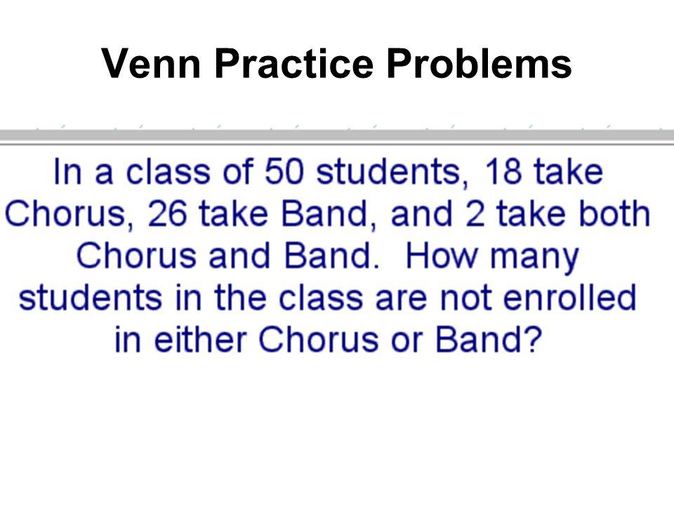 Venn Practice Problems