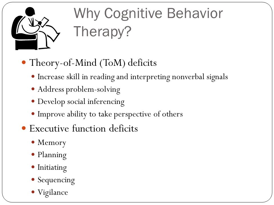 Why Cognitive Behavior Therapy.