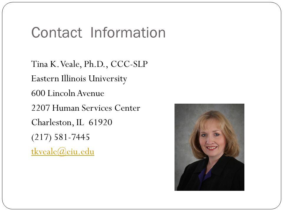 Contact Information Tina K.
