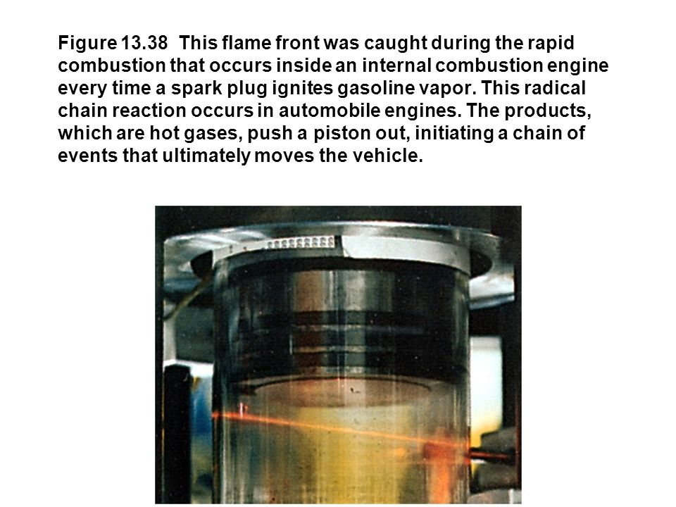 Figure 13.38 This flame front was caught during the rapid combustion that occurs inside an internal combustion engine every time a spark plug ignites