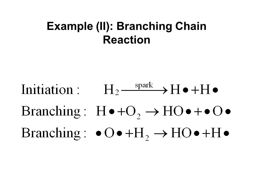Example (II): Branching Chain Reaction