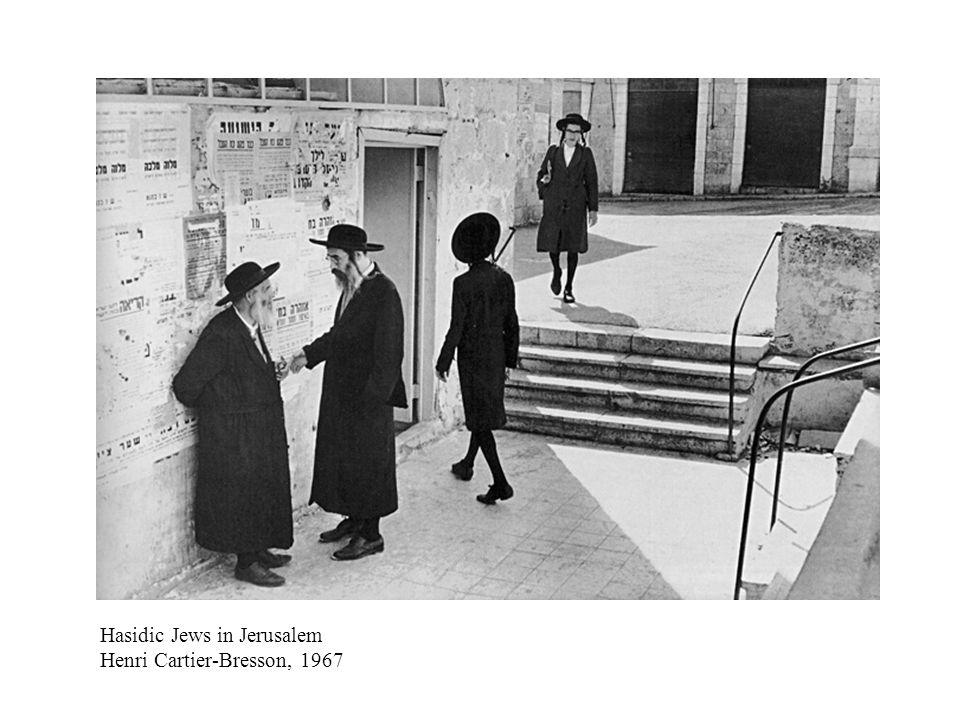 Hasidic Jews in Jerusalem Henri Cartier-Bresson, 1967