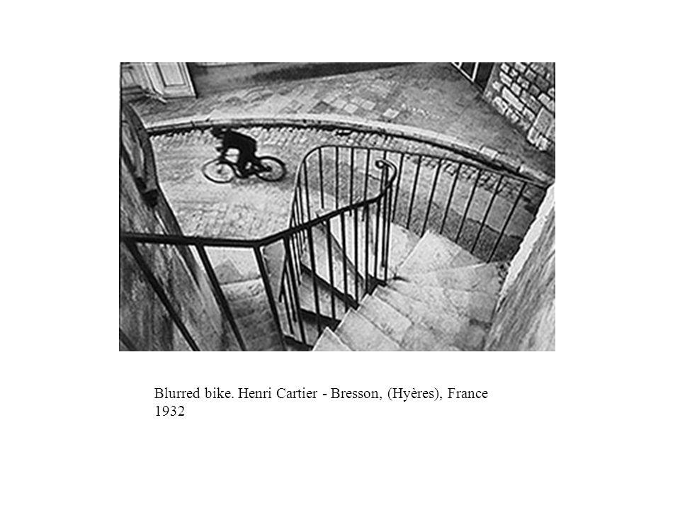 Blurred bike. Henri Cartier - Bresson, (Hyères), France 1932