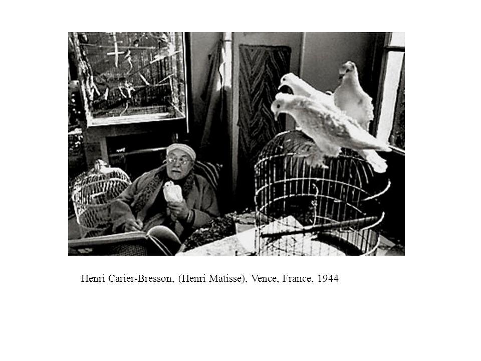 Henri Carier-Bresson, (Henri Matisse), Vence, France, 1944