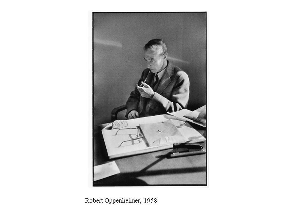 Robert Oppenheimer, 1958