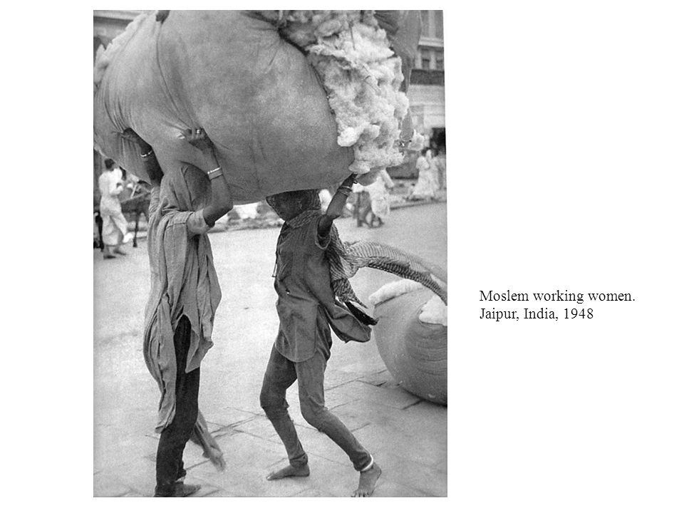 Moslem working women. Jaipur, India, 1948