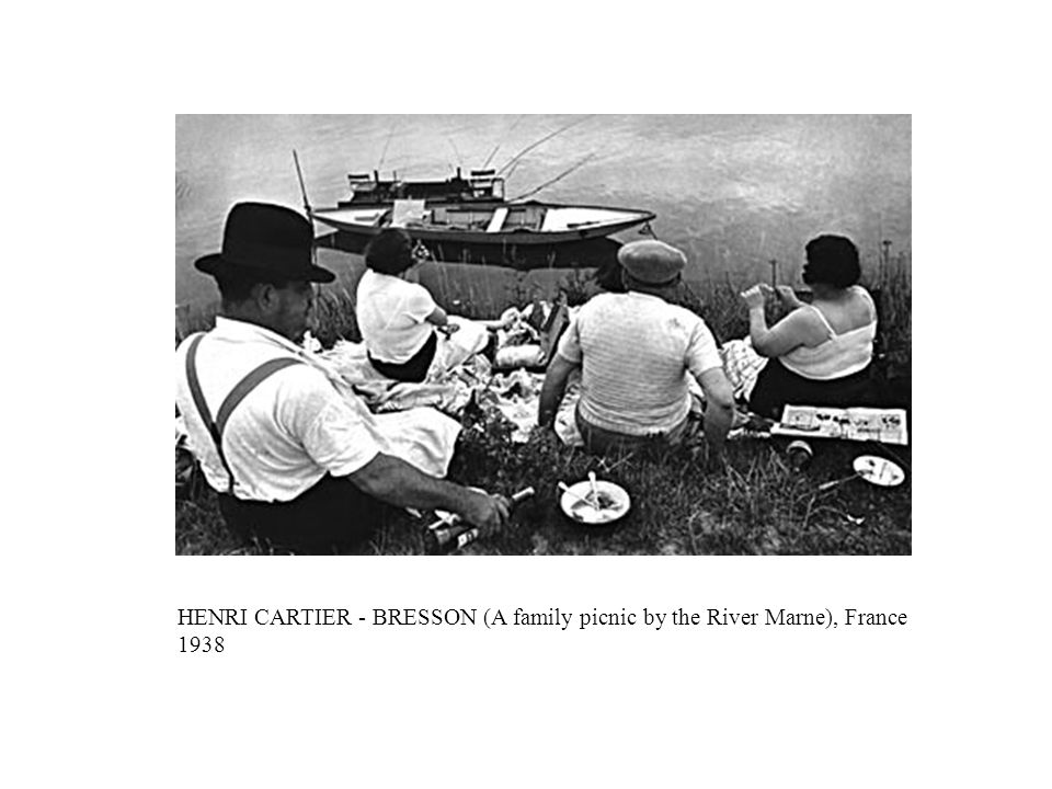 HENRI CARTIER - BRESSON (A family picnic by the River Marne), France 1938