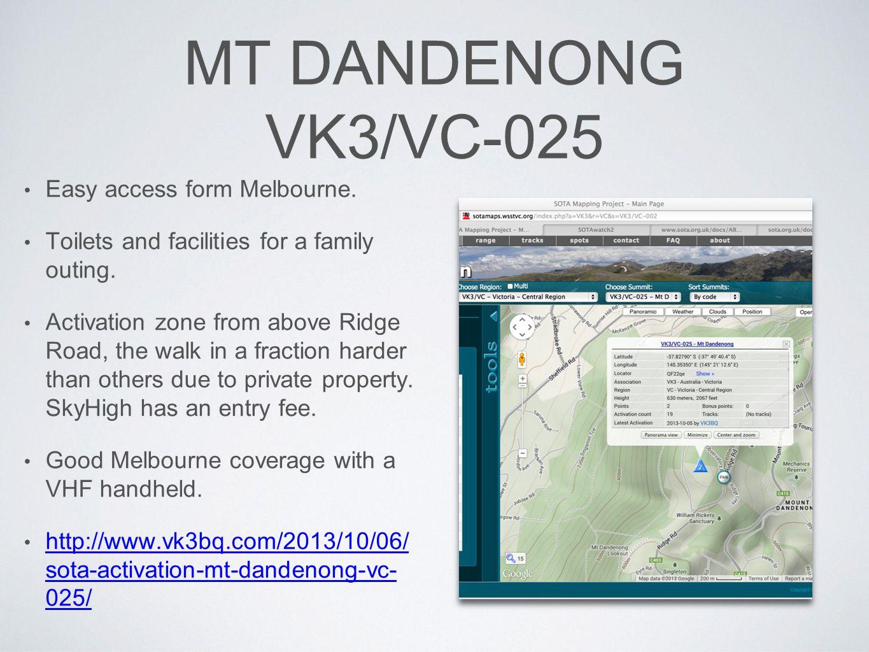 MT DANDENONG VK3/VC-025 Easy access form Melbourne.