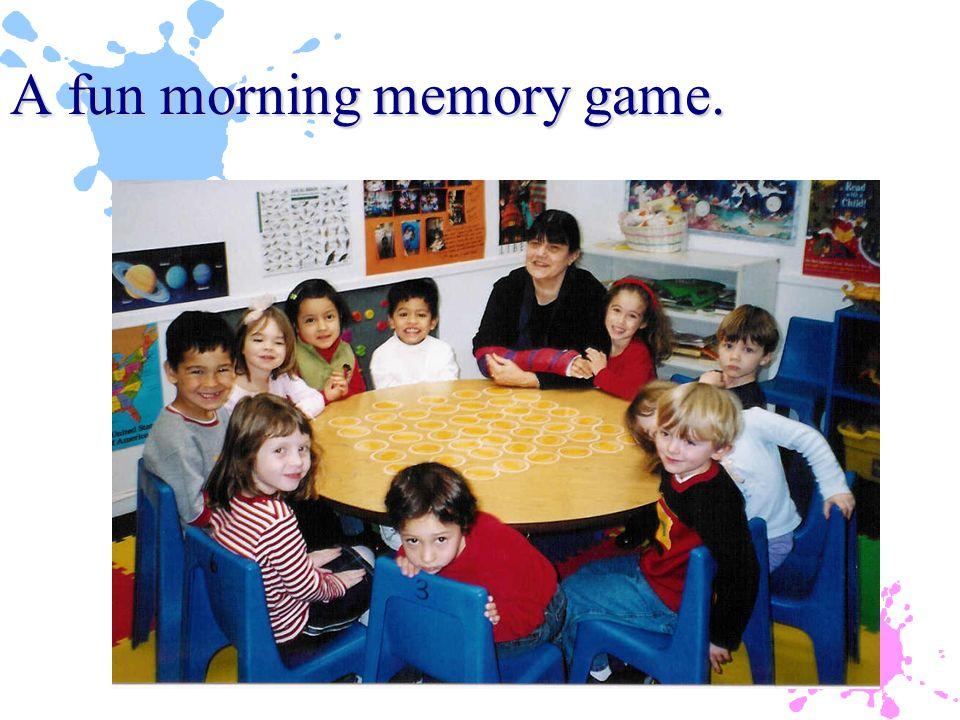 A fun morning memory game.