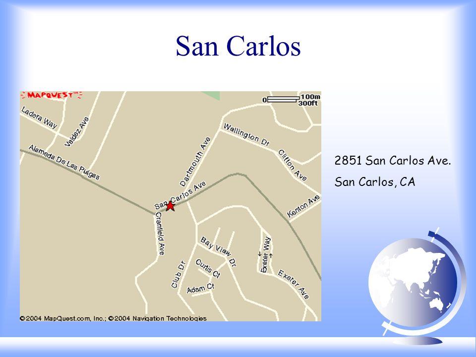 San Carlos 2851 San Carlos Ave. San Carlos, CA