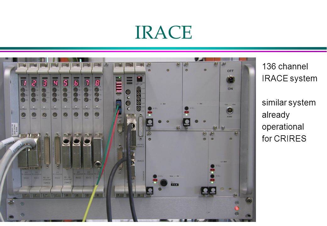 IRACE 136 channel IRACE system similar system already operational for CRIRES