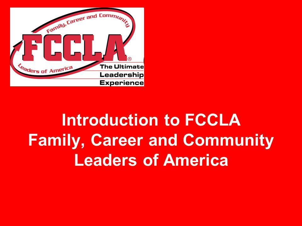 What is FCCLA.Watch Be Part of It.