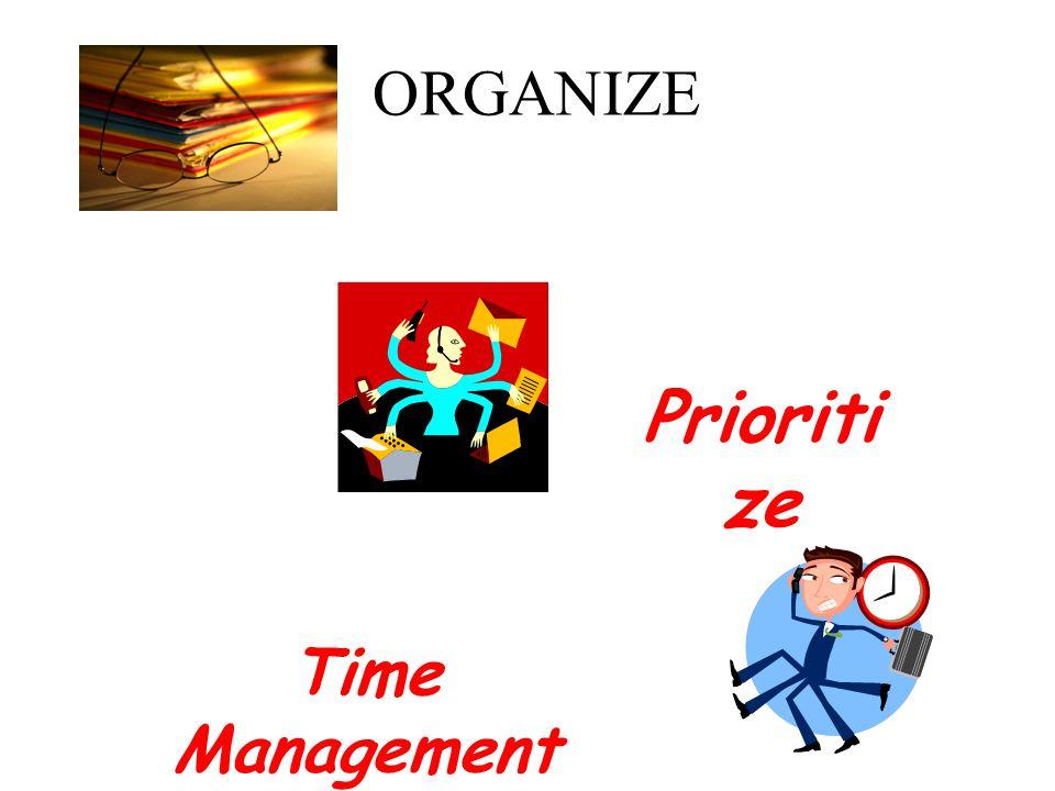 ORGANIZE Prioriti ze Time Management