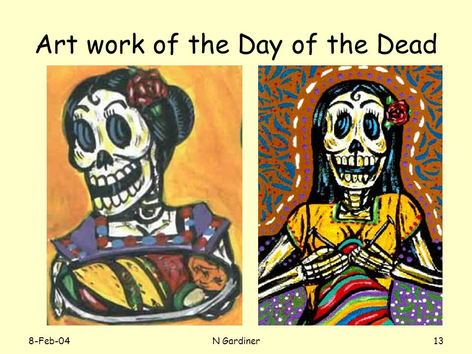 8-Feb-04N Gardiner13 Art work of the Day of the Dead