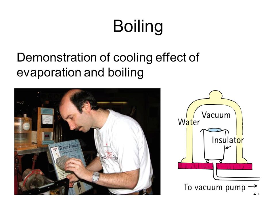 21 Boiling Demonstration of cooling effect of evaporation and boiling