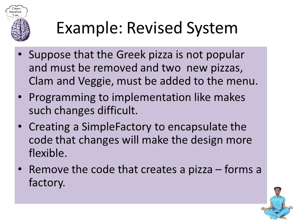 Example: Revised Class Diagram