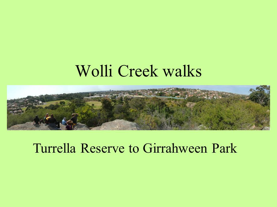 Wolli Creek walks Turrella Reserve to Girrahween Park