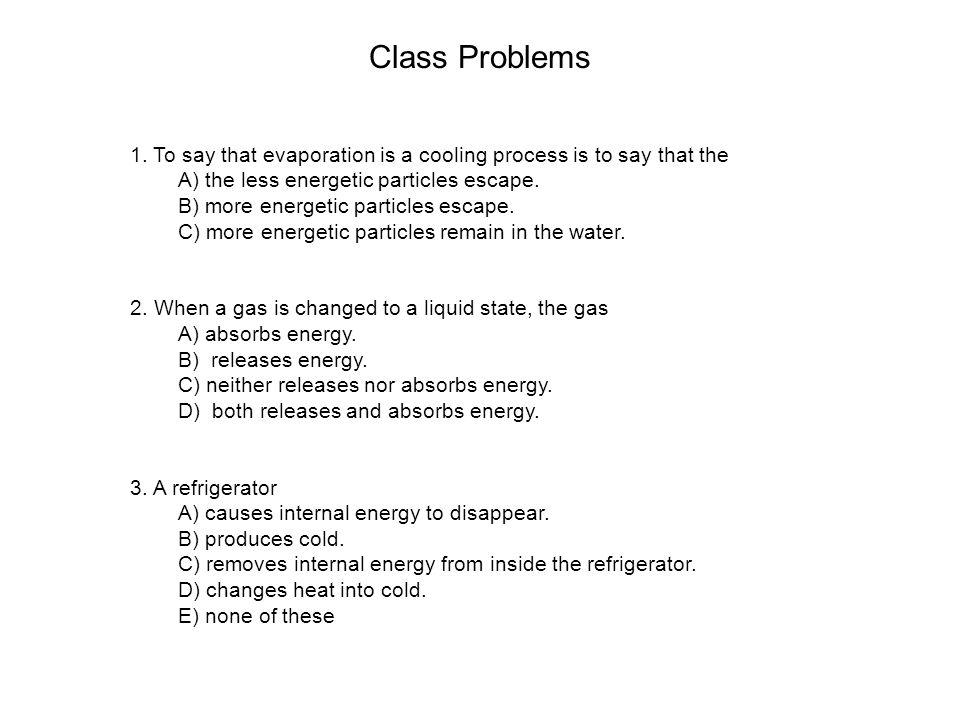 Class Problems 1.