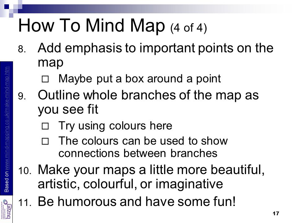17 How To Mind Map (4 of 4) 8.