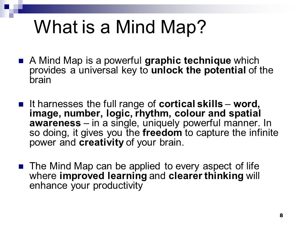 8 What is a Mind Map.
