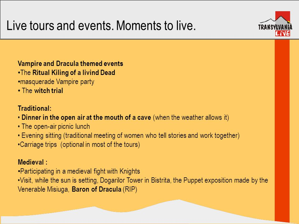 Live tours and events. Moments to live.