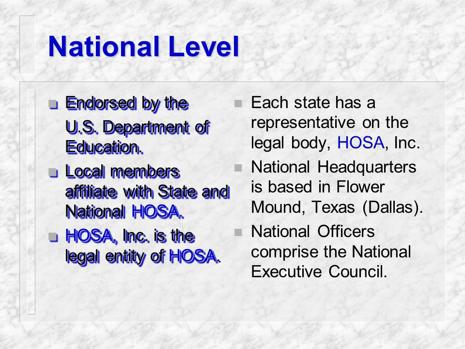 State Associations n State Officers lead State Associations.
