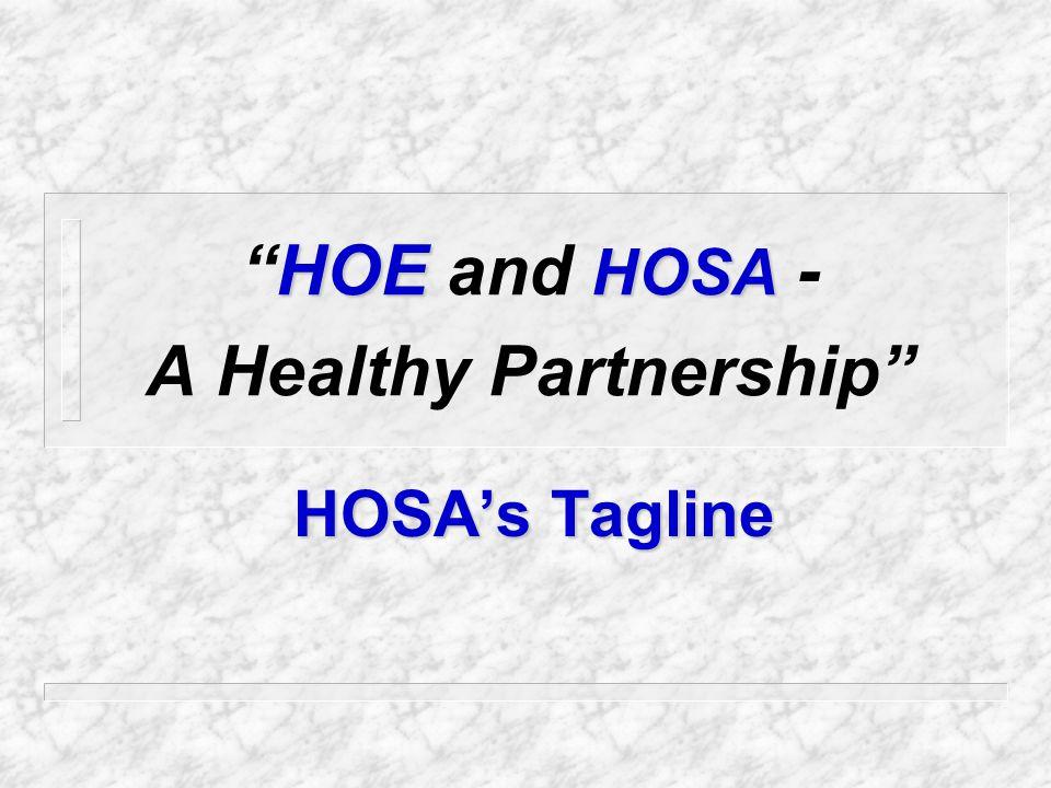 The HOSA Motto HOSA The Hands of HOSA Mold the Health of Tomorrow