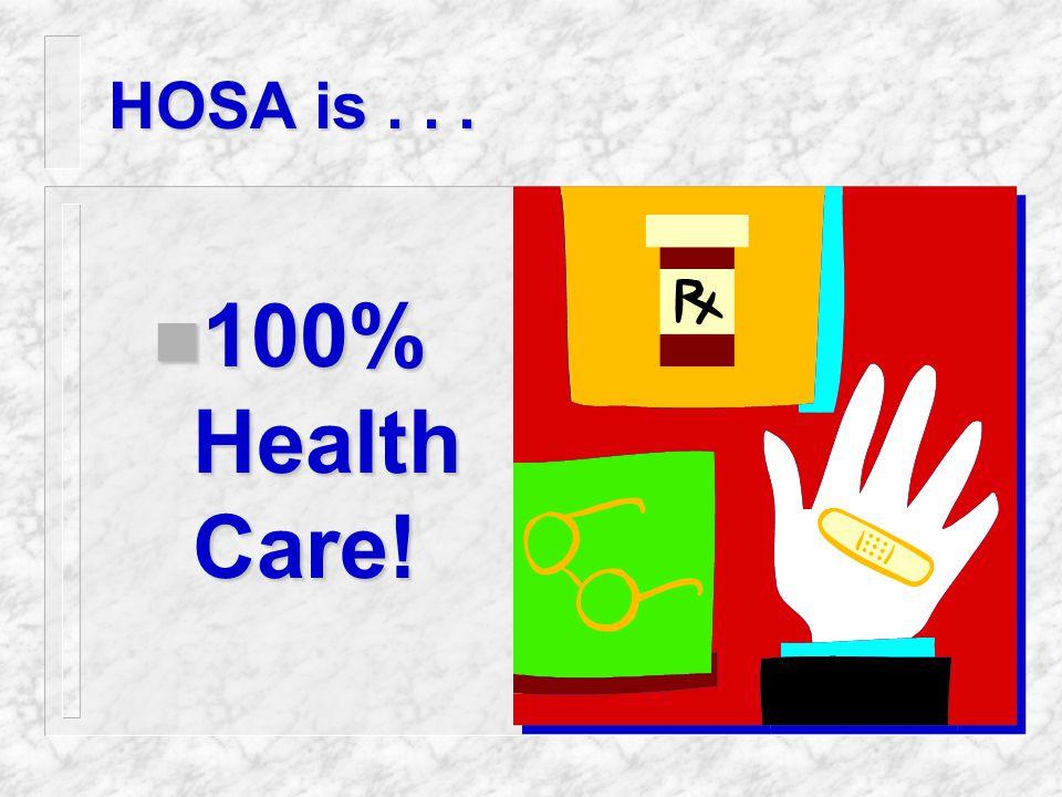 HOSA's Tagline HOE HOSA HOE and HOSA - A Healthy Partnership