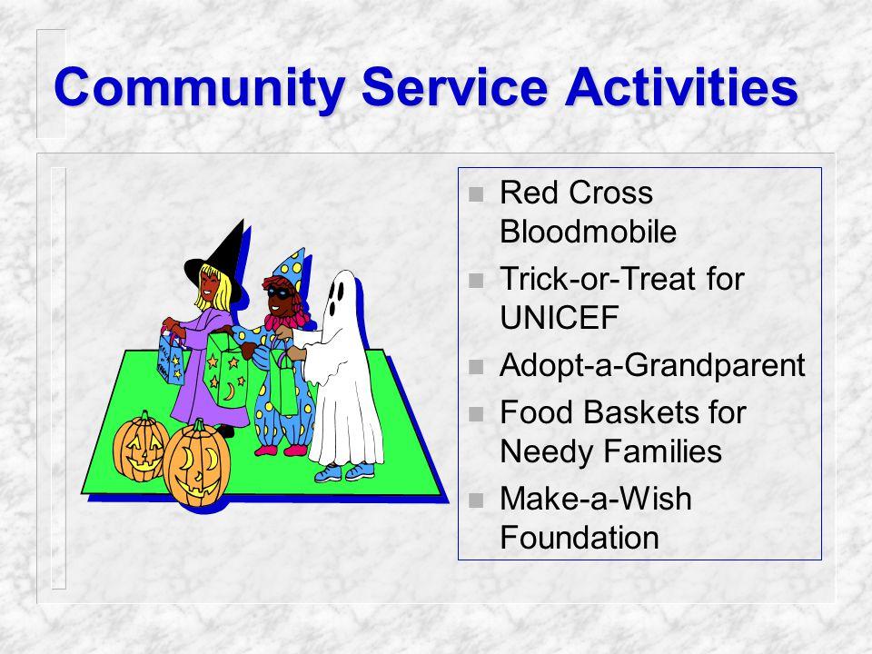 Professional Activities n Field Trips n Guest Speakers n Employer Functions n Alumni Activities n Career Day or Career Fairs