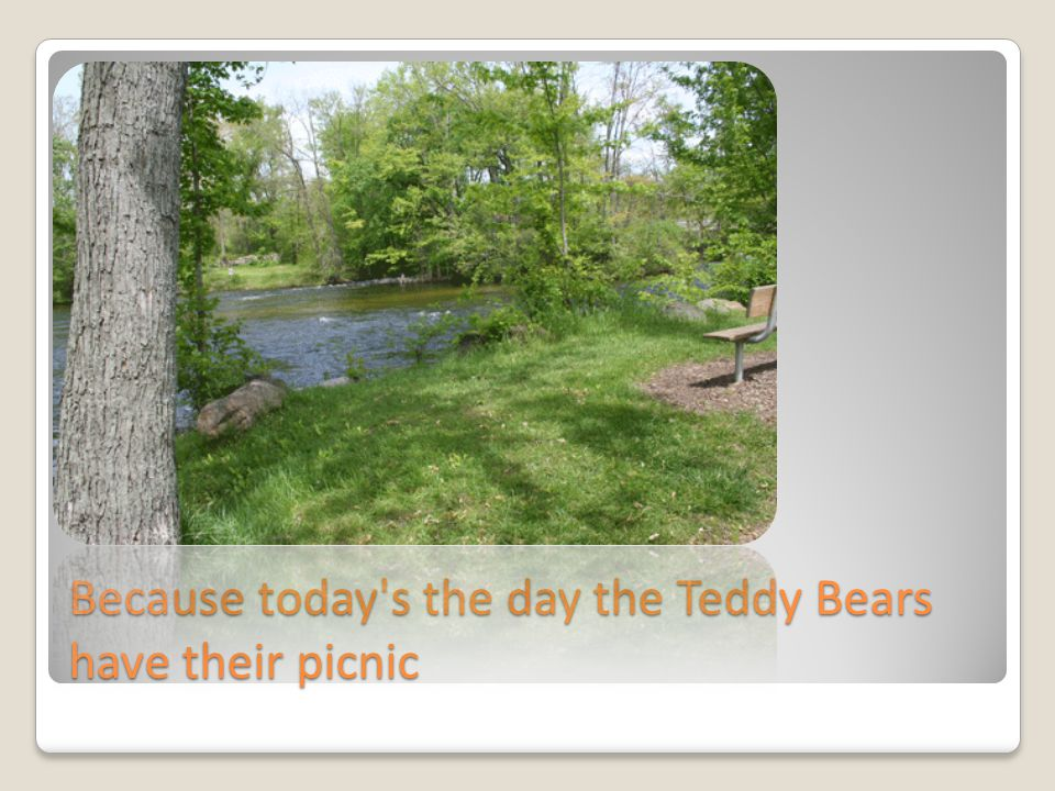 Because today's the day the Teddy Bears have their picnic