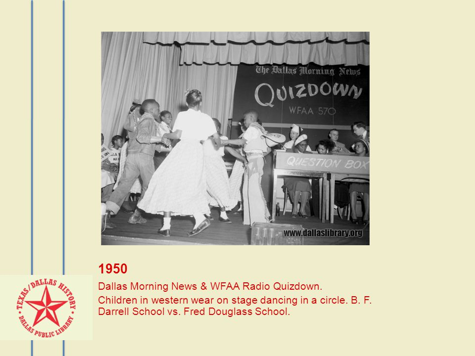 1950 Dallas Morning News & WFAA Radio Quizdown.