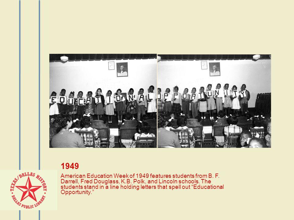 1952 Booker T.Washington School cheerleaders and drill team.