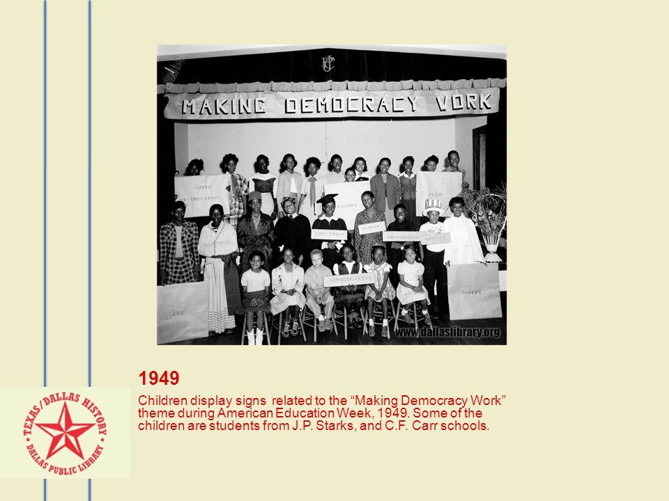 1952 C.F.Carr School on T.V. (Channel 4) Hattie Perkins, teacher; Josephine McCoy, Willie T.