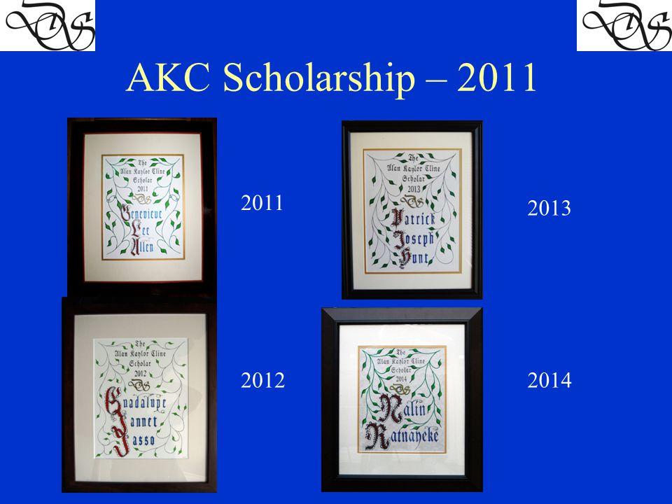 AKC Scholarship – 2011 2011 2012 2013 2014