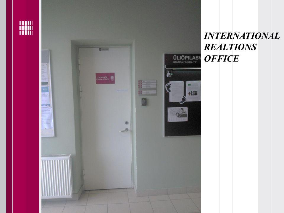 INTERNATIONAL REALTIONS OFFICE